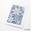 Message card QUIRE's choir 11.4 x 16.3 cm (size) Snow Crystal, laser-cut XQR2849 (Christmas)