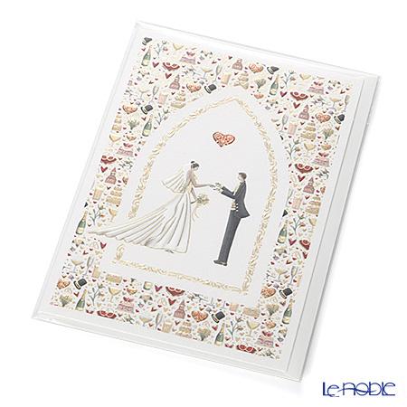 メッセージカード QUIRE社 クワイヤー 11.4×16.3cm(定形サイズ) QR3886 ウェディング(Wedding)