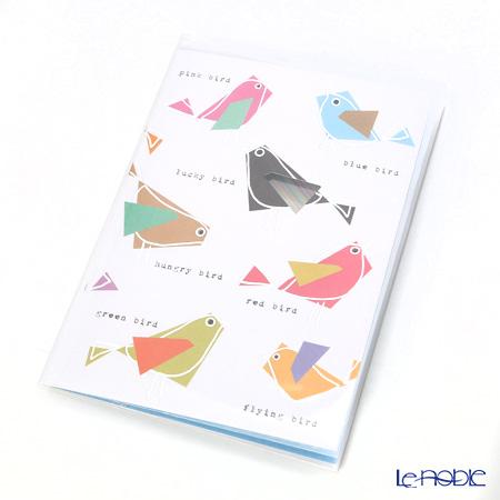 メッセージカード QUIRE社 クワイヤー 11.4×16.3cm(定形サイズ) QR7614 カラフルバード (Birthday)