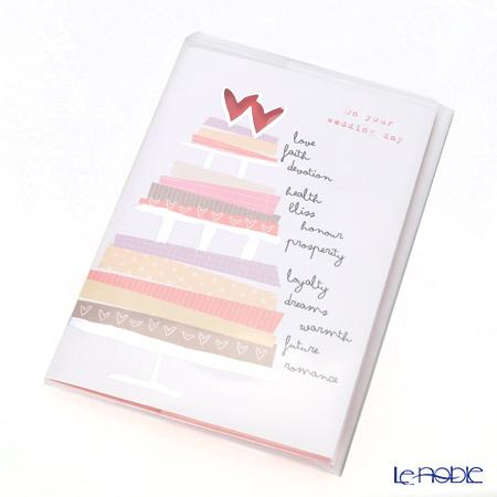 メッセージカード QUIRE社 クワイヤー 11.4×16.3cm(定形サイズ) QR7670 ウェディングケーキ (Wedding)