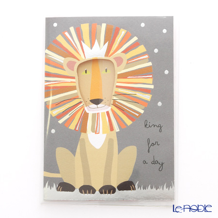 Quire 'Birthday / Lion' QR7673 Note Card with Envelope 11.5x16.5cm