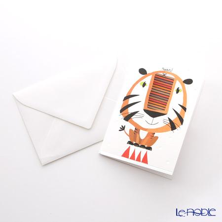 Greeting card QIRE's choir 11.4 x 16.3 cm (size) QR7703 Tiger (Birthday)