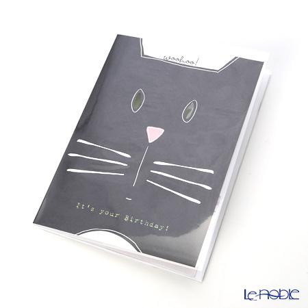 メッセージカード QUIRE社 クワイヤー 11.4×16.3cm(定形サイズ)QR7704 キャット マウス (Birthday)