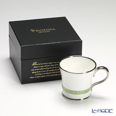 Prouna 'Jewelry - Chain' Erinite Green / Platinum Mug 250ml