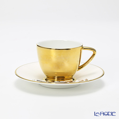Hankook Chinaware Prouna Jewelry Diana Gold Espresso cup and Saucer