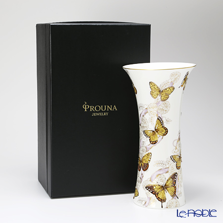 Hankook Chinaware Prouna Jewelry Butterfly Vase, small 32 cm
