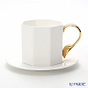 Twig New York 'Cutlery' Cup (with Gold Spoon handle) & Saucer 260ml