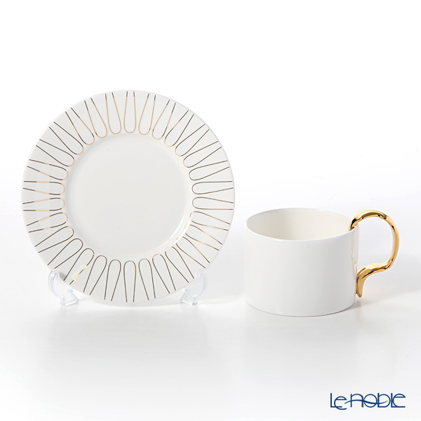 Twig New York 'Cutlery' Cup (with Gold Fork handle) & Saucer