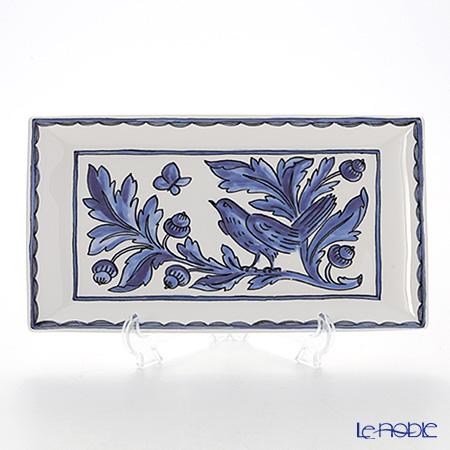 Twig New York 'Blue Bird' Rectangular Plate 29x16cm