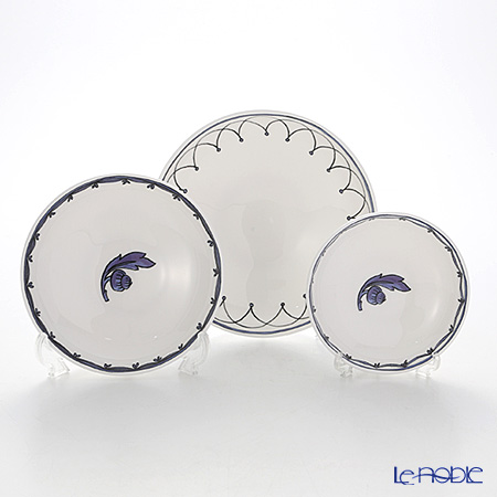 Twig New York Blue Bird Assorted Set of 3 Canape Dishes