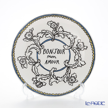 Twig New York Enjoy and Mon Amour Bonjour Mon Amour Plate 21.5 cm