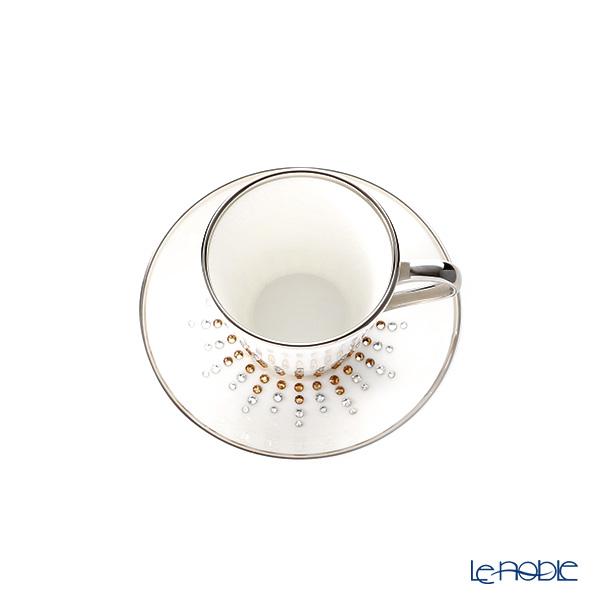 Prouna 'Jewelry - Tiara' Topaz Espresso Cup & Saucer 50ml