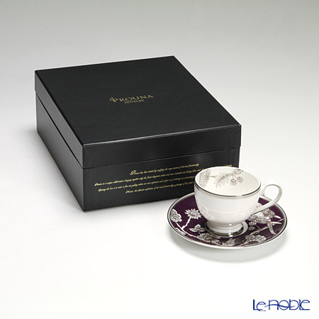 プラウナ・ジュエリー PROUNA Made with SWAROVSKI ELEMENTSパボシルバー ティーカップ&ソーサー