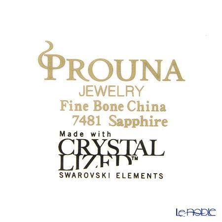 Hankook Chinaware Prouna Jewelry Chain Mug with crystal, Sapphire