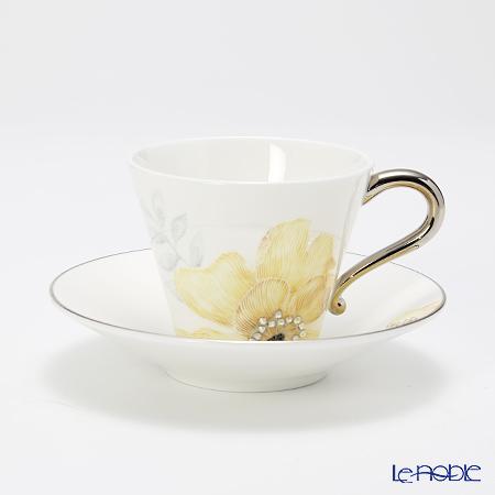 プラウナ・ジュエリー PROUNA Made with SWAROVSKI ELEMENTSコサージュ イエロー ティーカップ&ソーサー 170ml