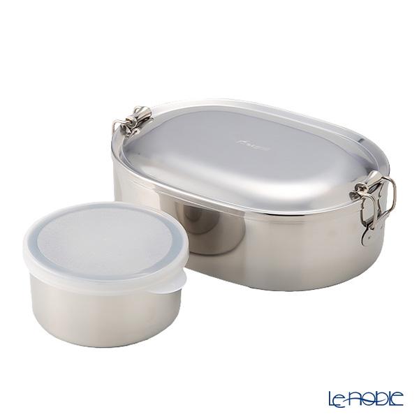 シーガル オーバルランチボックス 弁当箱 ステンレス 16cm(730ml) 【デザートカップ付】