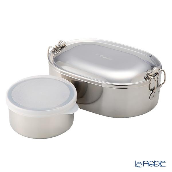 シーガル オーバルランチボックス 弁当箱 ステンレス 17cm(800ml) 【デザートカップ付】