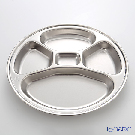 Zebra 'Stainless' Round 5 Compartment Tray 30.5cm