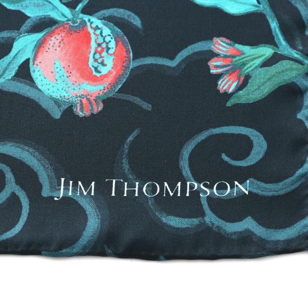 ジムトンプソン シルクスカーフ スクエア 80061Aバードアンドフルーツ/ダークグリーン