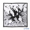 Jim Thompson 'Parrot (Bird)' White / Black 80075A Silk Square Scarf 82x82cm