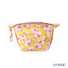 Jim Thompson 'Pink Orchid Flower' Yellow PSB10612A Coin Purse 14x7.5cm