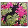 Jim Thompson 'Deepsea' Purple / Black 80089B Silk Square Scarf 83.5x83.5cm