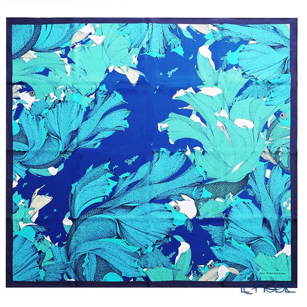 ジムトンプソン シルクスカーフ スクエア 80089E ディープシー/グリーン/コバルトブルー