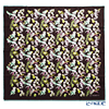 Jim Thompson silk scarf square 80093A Herb Garden/Brown