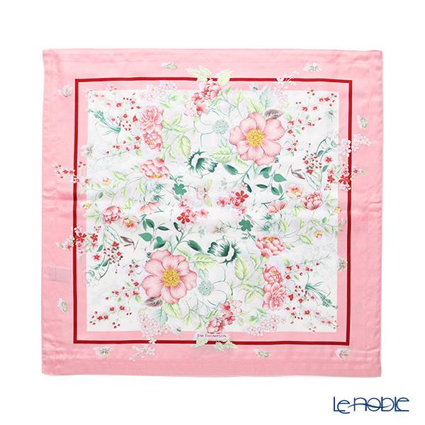 Jim Thompson Cushion Cover Silk Ruffle Pink Rose 45x45cm