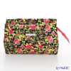 Jim Thompson 'Red Little Flower' Black / Pink 11310044A Cosmetic Pouch 17.5x11cm