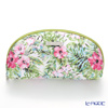 Jim Thompson 'Hibiscus Flower' Pink & Green 11310058A Oval Pouch 17x10cm