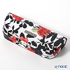 Jim Thompson 'Red Flower / Black Leaf' White 11310071A Eyewear Case 16x6cm