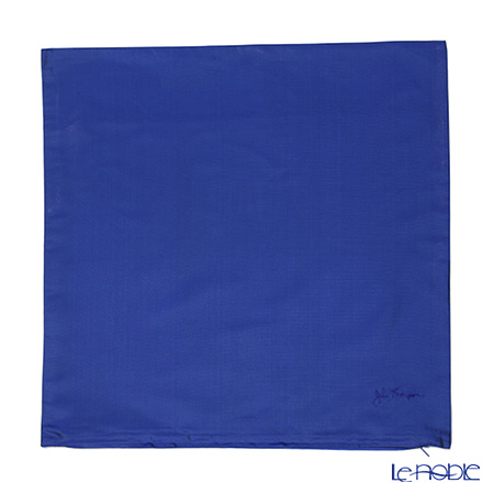 ジムトンプソン クッションカバー シルク 119628無地 ロイヤルブルー