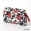 Jim Thompson 'Red Flower / Black Leaf' White 11310071A Cosmetic Pouch 17.5x11cm