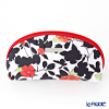 Jim Thompson 'Red Flower / Black Leaf' White 11310071A Oval Pouch 17x10cm
