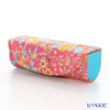 Jim Thompson 'Orange Little Flower' Pink / Turquoise Blue 11310044B Lipstick Case 8.5x2.5cm