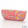 Jim Thompson 'Orange Little Flower' Pink / Turquoise Blue 11310044B Eyewear Case 16x6cm