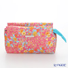 Jim Thompson 'Orange Little Flower' Pink / Turquoise Blue 11310044B Cosmetic Pouch 17.5x11cm