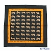 Jim Thompson 'Mega Elephants' Black 9517C Cotton Handkerchief 46.5×46.5cm (L)