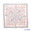 Jim Thompson silk scarf square PSB8303E Play for flowers / white / beige