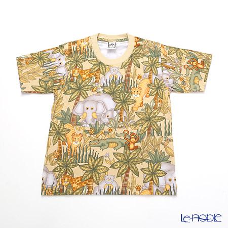 ジムトンプソン 子供服 Tシャツ S(4-7歳)アニマル ジャングル ベージュ