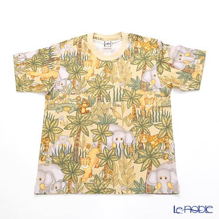 ジムトンプソン 子供服 Tシャツ M(8-11歳)アニマル ジャングル ベージュ