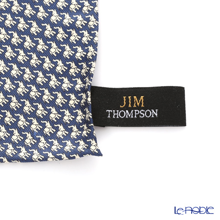 Jim Thompson Silk Pocket Chief, White Elephant, blue, PSB4252C