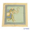 ジムトンプソン クッションカバー シルク フリル PSB9577Bゾウ ハーフ グリーン/オレンジ