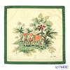 Jim Thompson Cushion cover cotton ruffle 2249581A 2 elephants tropical forest
