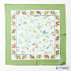 Jim Thompson 'Flower - Elephants' Light Blue / Green frame 9590D Silk Handkerchief 46.5x46.5cm (L)