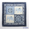 Jim Thompson 'Elephant' Blue PSB9579B Silk Handkerchief 46.5x46.5cm (L)
