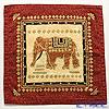 Jim Thompson Cushion cover cotton ruffle 2249580E Elephants 1 red