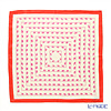 Jim Thompson 'Pink Elephants' Ivory / Red frame PSB9628F Silk Handkerchief 46.5x46.5cm (L)