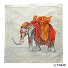 Jim Thompson 'Royal Elephant' Orange Grey PSB9578B Ruffled Silk Cushion Cover 46x46cm